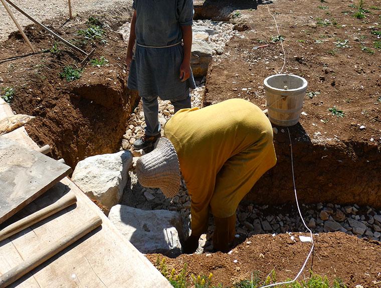 Fouilles sur le chantier de Montcornelles