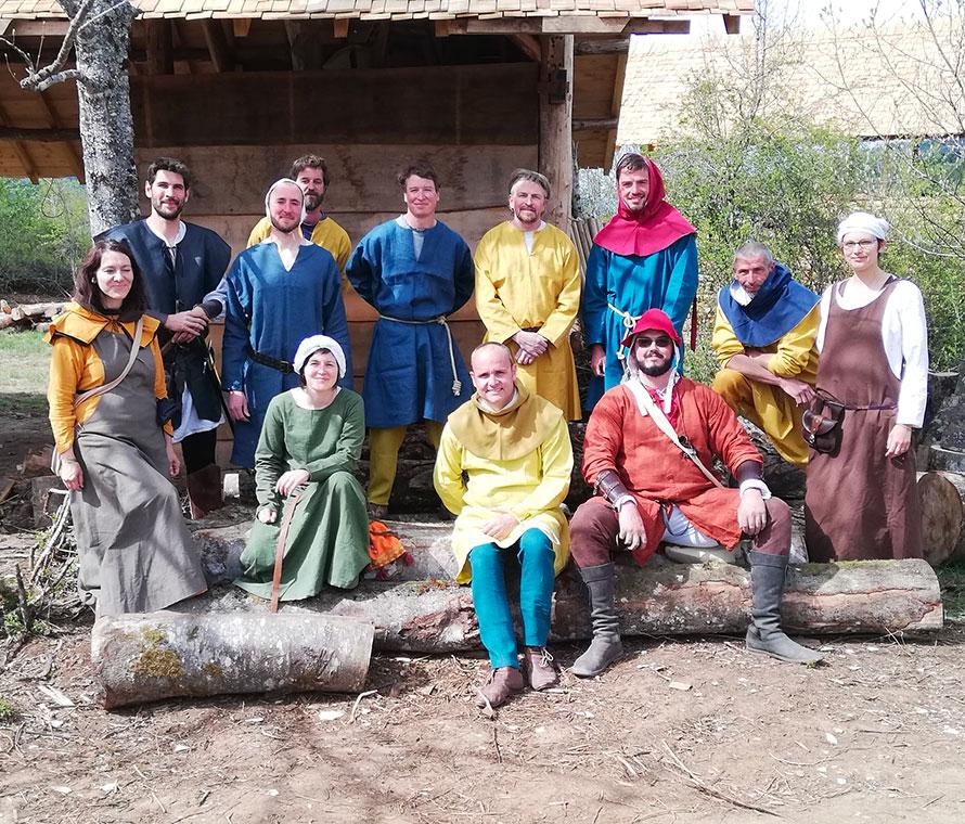 L'équipe du projet Montcornelles dans les montagnes du Bugey