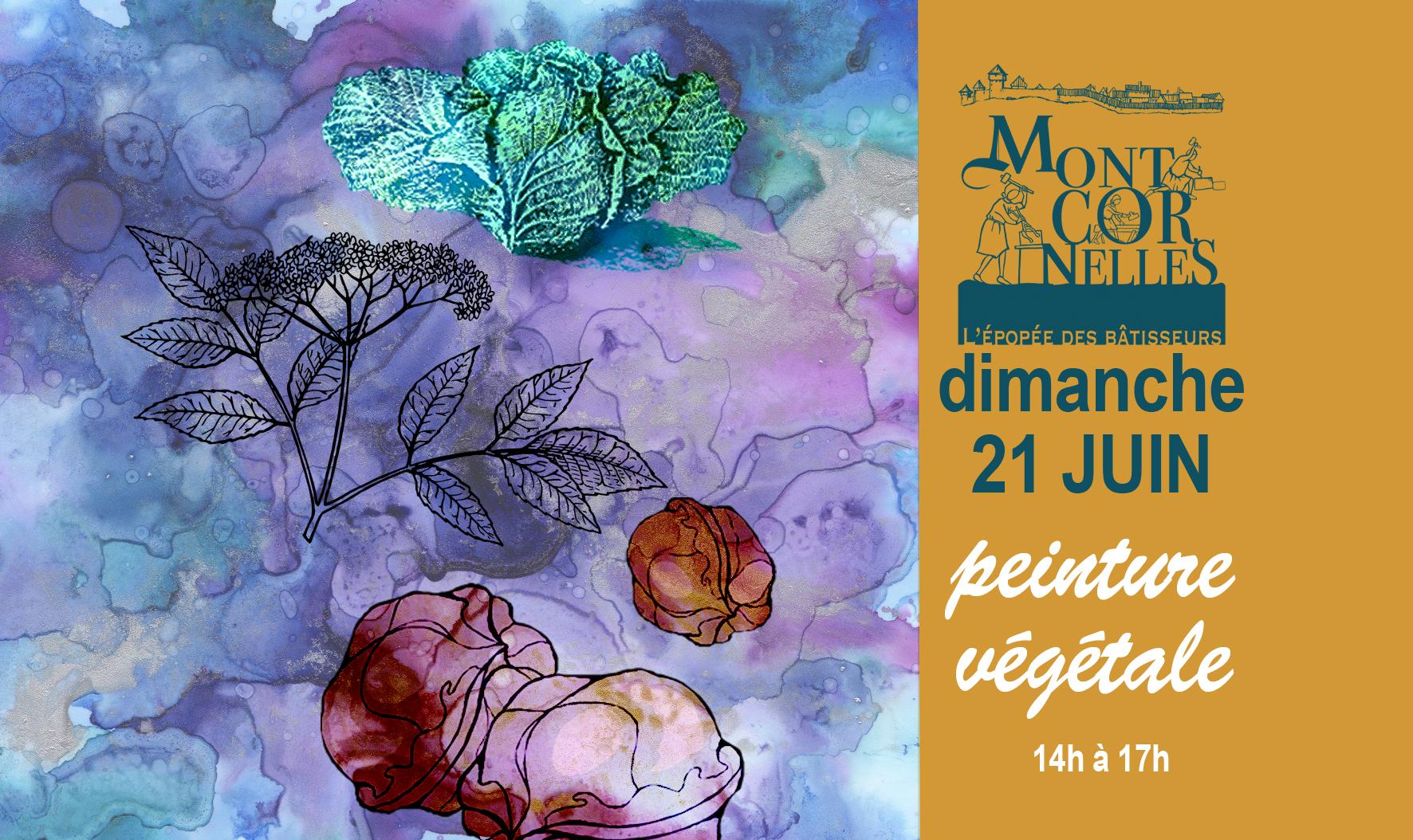 Montcornelles annonce évènement peinture végétale