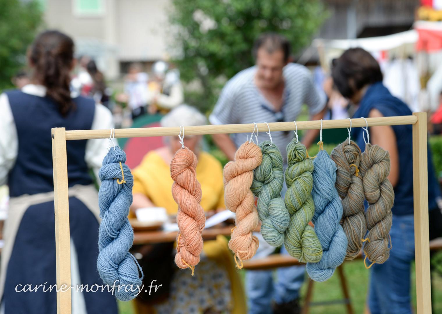 Montcornelles laines animation Chantier médiéval du Bugey