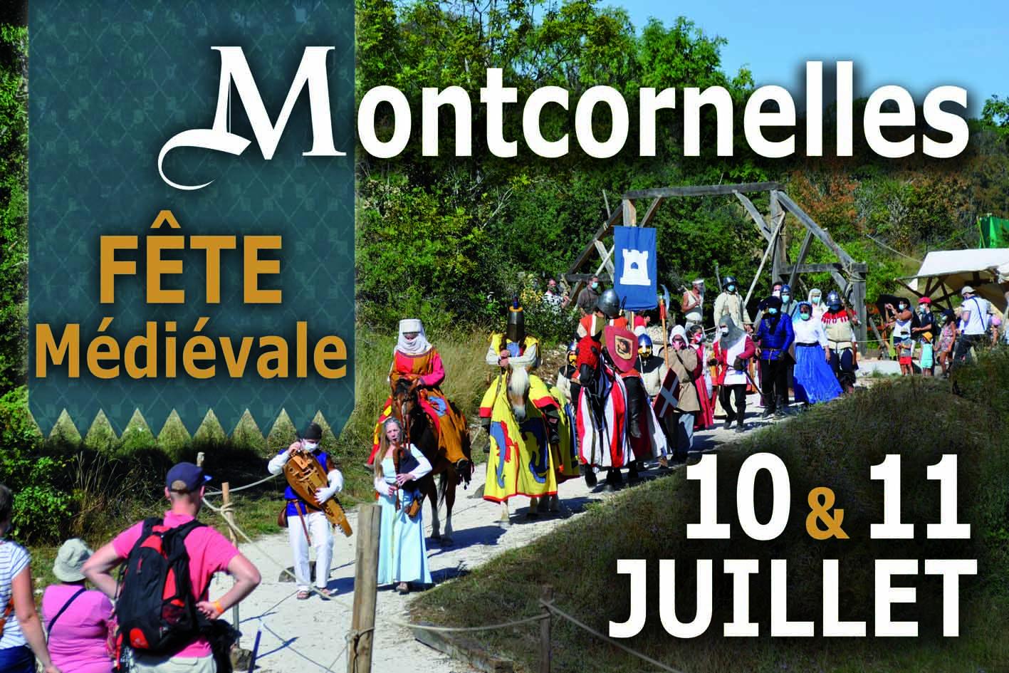 Affiche fête médiévale Montcornelles 2021