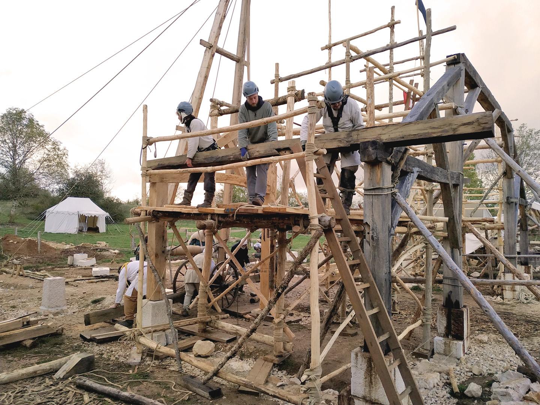 Montcornelles chantier de la Halle